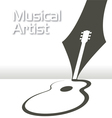 Guitar pen music vector