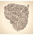 Vintage engine old picture vector