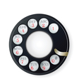 Rotary phone dial vector