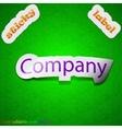 Company icon sign symbol chic colored sticky label vector