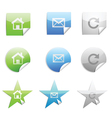 Web 20 stickers set vector