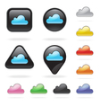 Cloud icon button set for website and app vector