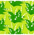 Floral pattern with lily-of-the-valley flowers vector