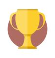 Golden cup vector