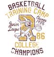 Rabbit basketball training camp vector