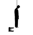 Hanged man silhouette vector