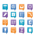 Business and office internet icons vector