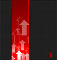 Abstract red background with transparent arrows vector