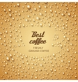 Coffee cup make from water drops vector