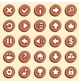 Flat and simple video game buttons vector