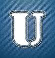 Denim jeans letter u vector