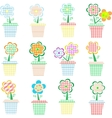 Flowers in pot vector