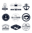 Set of seafood logos crab lobster restaurant vector