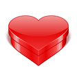 Red shiny heart gift present vector
