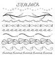 Summer hand drawn border set vector