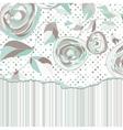 Vintage roses background vector