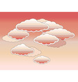 Stylized pink clouds vector