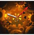 Gears clock background vector