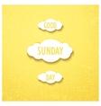 Good sunday day vector