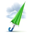 Closed umbrella and clouds in vector