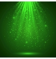 Green magic light abstract background vector