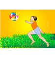 Boy with multicolor ball vector