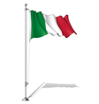 Flag pole italy vector