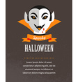 Halloween cute poster with dracula vector