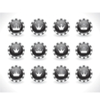 Buttons for web with crowns vector