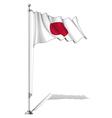 Flag pole japan vector