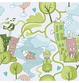 Cute landscape pattern vector