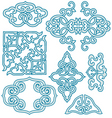 Chinese scroll ornament vector