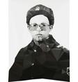 Russian soldier portrait winter form geometric vector