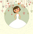 Sweet wedding invitation with hearts vector