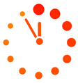 Red clock icon vector