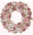 Romantic flower wreath wreath of roses vector