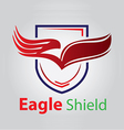 Eagle shield vector