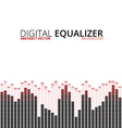 Equalizer on abstract technology background vector