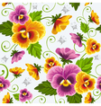 Seamless background with pansy vector