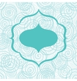 Blue arabic style frame on seamless background vector