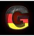 Germany cutted figure g vector