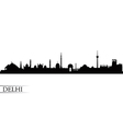 Delhi city skyline silhouette background vector