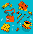Office accessories and different objects vector