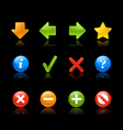 Gel icon navigation black vector