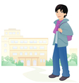 Boy student vector