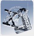 Ski jump slope style vector