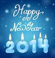 Candles 2014 happy new year vector