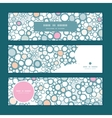 Colorful bubbles horizontal banners set pattern vector