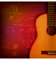 Abstract red sound grunge background with acoustic vector