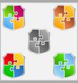 Puzzle shields vector